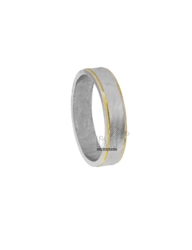 FEDINA RING 43 MM WITH RHODIUM-PLATED DIAMOND INSIDE AND GOLD PLATED POLISHED EDGES IN AG TIT 925 ‰ SIZE 28