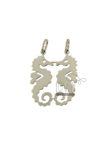 Pendant seahorses DIVIDED IN SILVER 925 ‰
