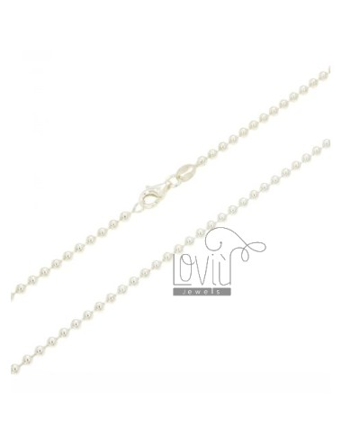 MILITARY BALL CHAIN &8203&8203SILVER 70 MM 2.5 CM 925 ‰
