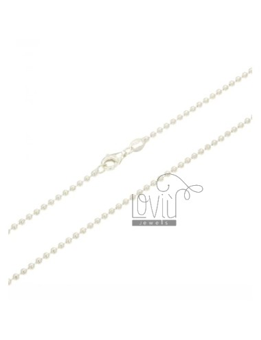 MILITARY BALL CHAIN &8203&82032 MM 90 CM SILVER 925 ‰