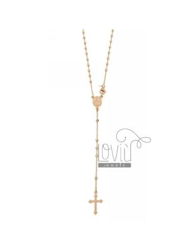 Collar de rosario con bola...