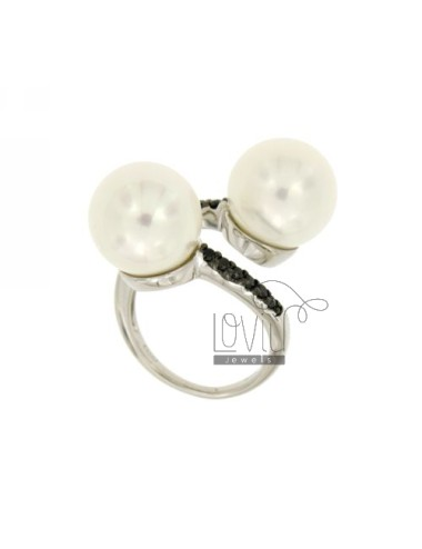 RING CONTRARIE PERLA MM 12...