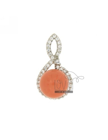 DOUGH BALL PENDANT CORAL...