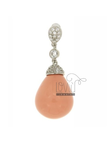 DROP PENDANT IN PINK CORAL...