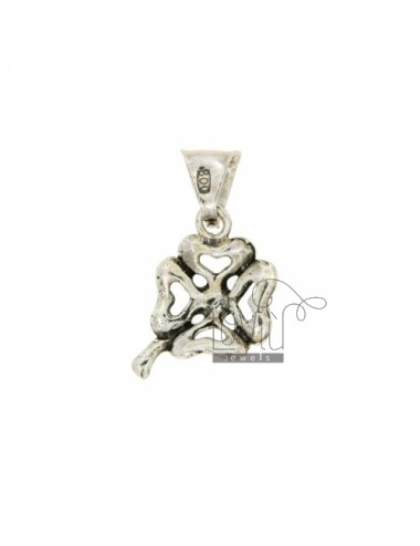 FOUR LEAF CLOVER CHARM IN AG casting BRUNITO TIT 800 ‰