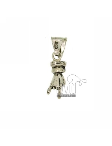 PENDANT HAND WITH HORNS IN AG casting BRUNITO TIT 800 ‰