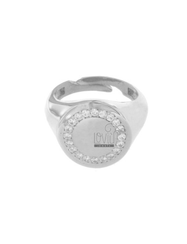 RING ROUND 16 MM SILVER...