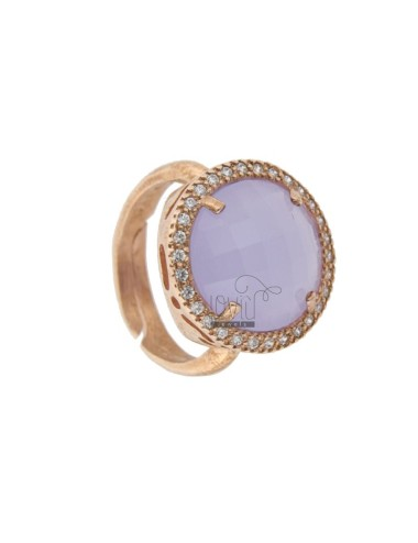 Round 18 mm ring with stone...