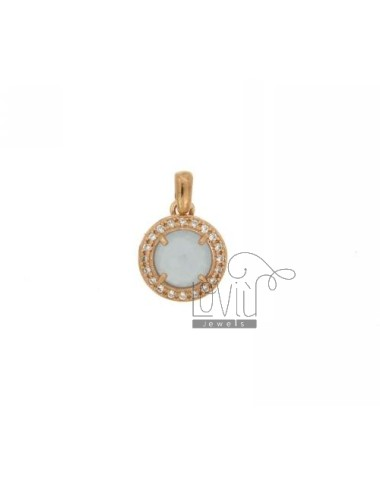 18 MM ROUND PENDANT WITH...