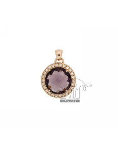 20 MM ROUND PENDANT WITH...