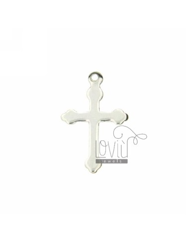 CROSS PENDANT WITH POINTS WITHOUT MAGLINA 17x11 MM A SMOOTH PLATE SILVER TITLE 925