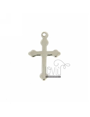 CROSS PENDANT WITH POINTS WITHOUT MAGLINA 17x11 MM A SMOOTH PLATE SILVER RHODIUM TIT 925
