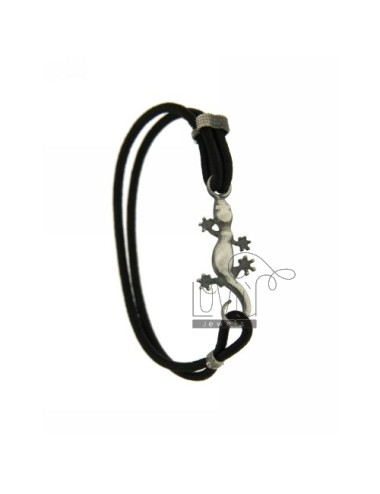 ELASTIC BRACELET IN BLACK WITH JECO AG BRUNITO TIT 925