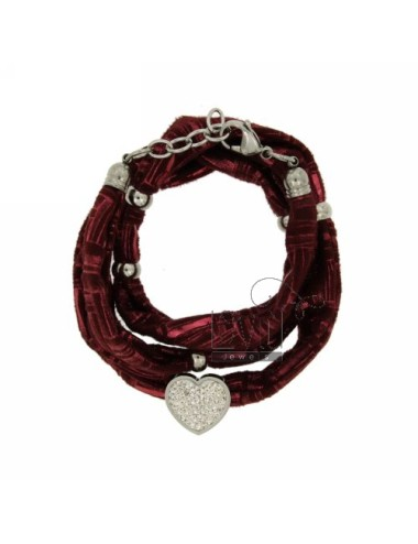 BRACCIALE IN LICRA BORDEAUX...