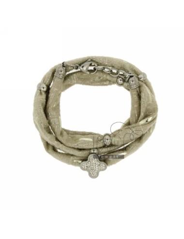 Licra ivory bracelet with...