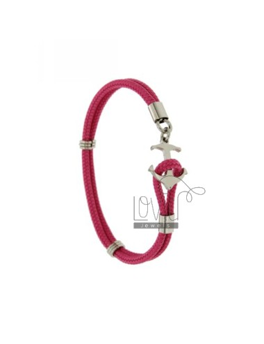 Rope bracelet pink with...