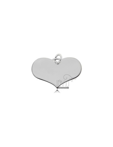 HEART PENDANT 15X22 MM LASER CUT IN SILVER RHODIUM 925 ‰