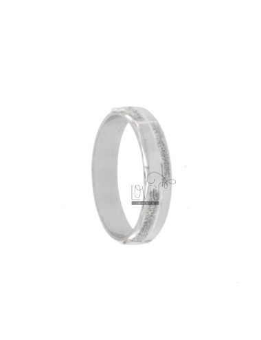 4 mm Band Ring mit Brillant...