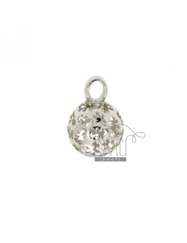 PENDANT 14 MM WITH ANGELS TALK CHILDREN IN PERFORATED AG RHODIUM TIT 925