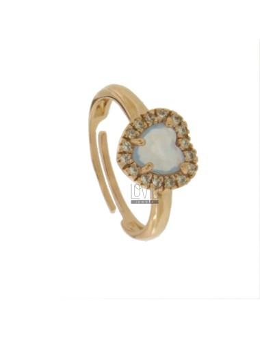 Heart ring with stone...