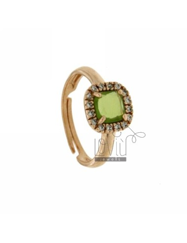 SQUARE RING WITH GREEN...