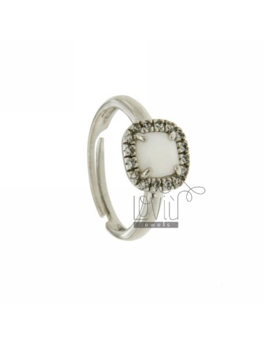 SQUARE RING WITH STONE...