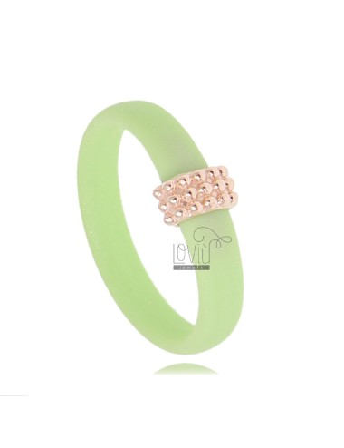 PASTEL GREEN RUBBER RING...