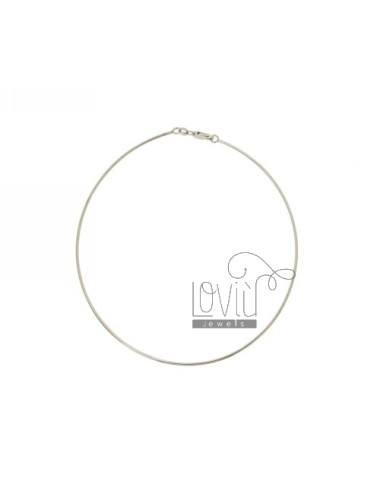 1.5 MM NECKLACE DRIVE IN SILVER RHODIUM TIT 925