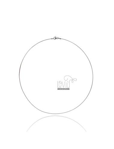 1,5 mm rigid silver round...