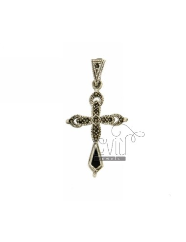 CROSS PENDANT IN AG BRUNITO...