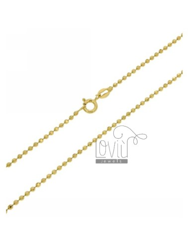 Facet BALL CHAIN &8203&82031.8 MM IN TIT AG GOLD PLATED 60 CM 925