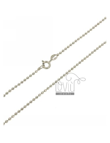 Facet BALL CHAIN &8203&82031.8 MM IN RHODIUM AG TIT 925 CM 50