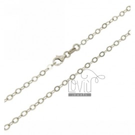 CHAIN &8203&8203CABLE 3 IN A SLAB MM AG RHODIUM TIT 925 CM 45