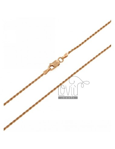 FUNETTA CHAIN 1.3 MM IN ROSE GOLD PLATED AG TIT 925 ‰ 60 CM