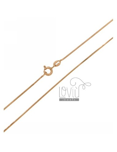 CHAIN TAIL MOUSE COMPRESSED 0.8 MM IN ROSE GOLD PLATED AG TIT 925 ‰ CM 40