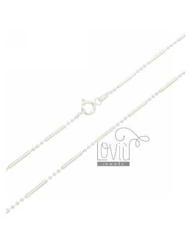 3 TUBE BEADS CHAIN &8203&82031.5 MM IN TIT AG 925 CM 40
