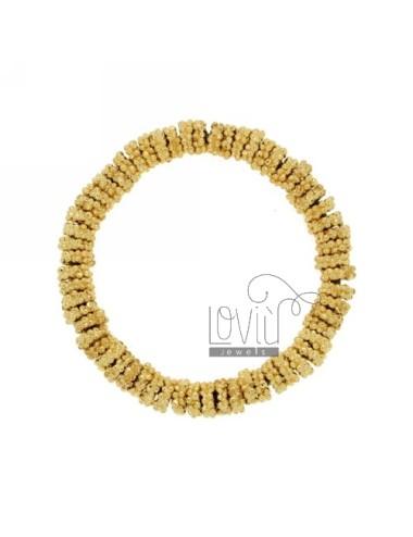 ELASTIC BRACELET GOLD PLATED BRONZE