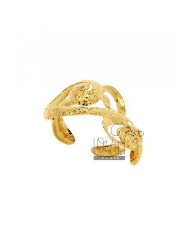FANCY BANGLE IN BRONZE GOLD PLATED