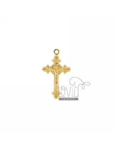 20x12 MM CROSS POINTS WITHOUT INVESTMENT CAST A MAGLINA SILVER GOLD PLATED TIT 925