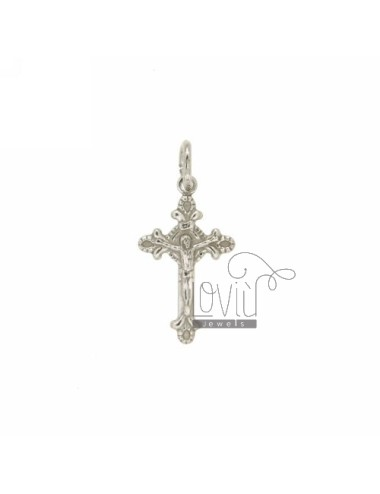 INVESTMENT CAST A 20x12 MM CROSS PENDANT IN SILVER RHODIUM TIT BITS 925