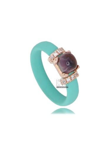 Ring in green tiffany...