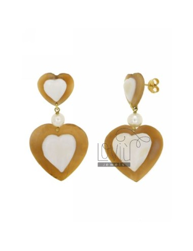 CAMEO EARRINGS HEART IN GOLD PLATED TIT AG 92.5%