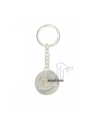 Round key ring with snail...