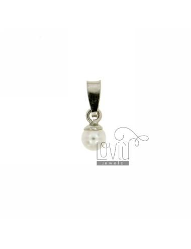 6 MM Perlenkette in TIT AG...