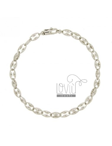 SEGMENT BRACELET MEN&39S JERSEY MARINA 8 MM 20 CM IN RHODIUM AG TIT 925