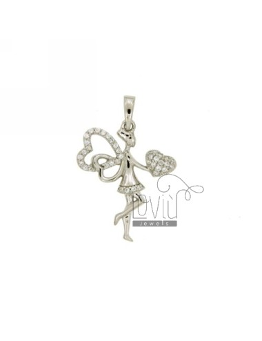 FAIRY PENDANT WITH HEART IN...