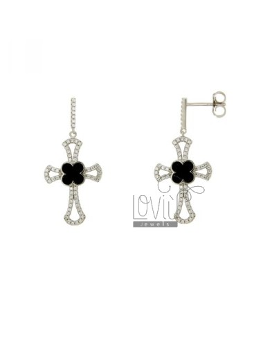 35x17 MM EARRINGS CROSS...
