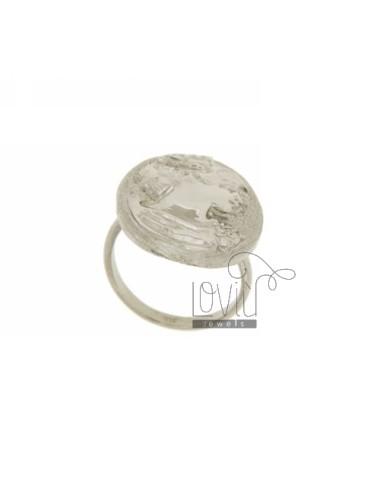 25x19 mm ovalado anillo con...