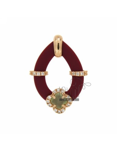 Drop pendant with caucciu...