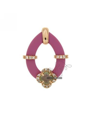 Drop pendant with fuchsia...